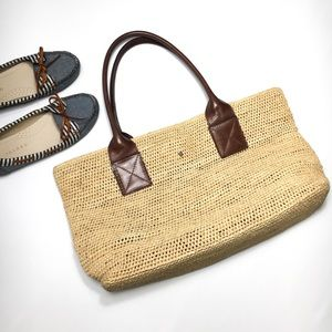 Helen Kaminski Australia Raffia and Leather Bag